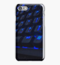 Cool Blue Keyboard iPhone Case/Skin