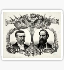 Grand national Democratic banner 1880 - 1880 Sticker