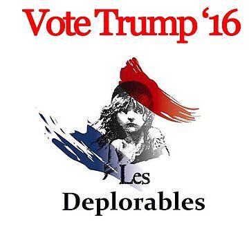 Les deplorable Trump 2016 TSHIRT by nhatrong7