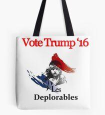 Les deplorable Trump 2016 TSHIRT Tote Bag