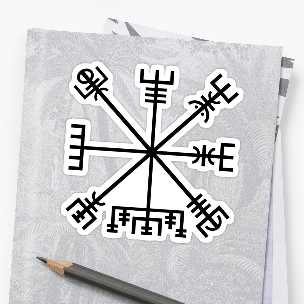 Vegvisir Norse Compass Symbol Of Protection Stickers By