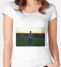 Sunset - Golf Women's Fitted Scoop T-Shirt