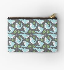 doofy shark pattern- natural Studio Pouch