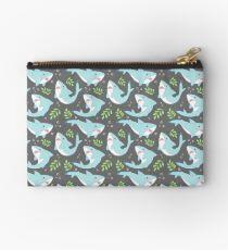 doofy shark pattern- natural Zipper Pouch