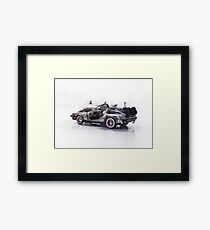 Delorean Back To The Future III Framed Print