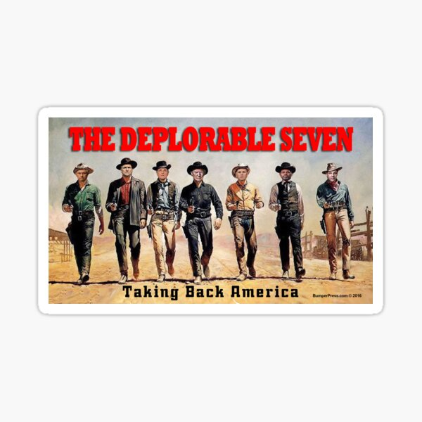The Deplorable Seven Sticker