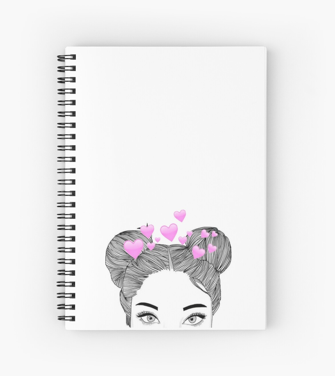 Tumblr Heart Girl Iphone Case Spiral Notebooks By Dieuw Redbubble