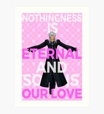 Kingdom Hearts - Xemnas Eternal Love Art Print