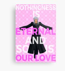 Kingdom Hearts - Xemnas Eternal Love Metal Print