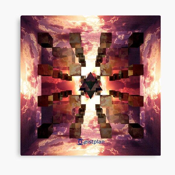 """Mandala """"die Hallen von Amenti"""" Leinwanddruck"""
