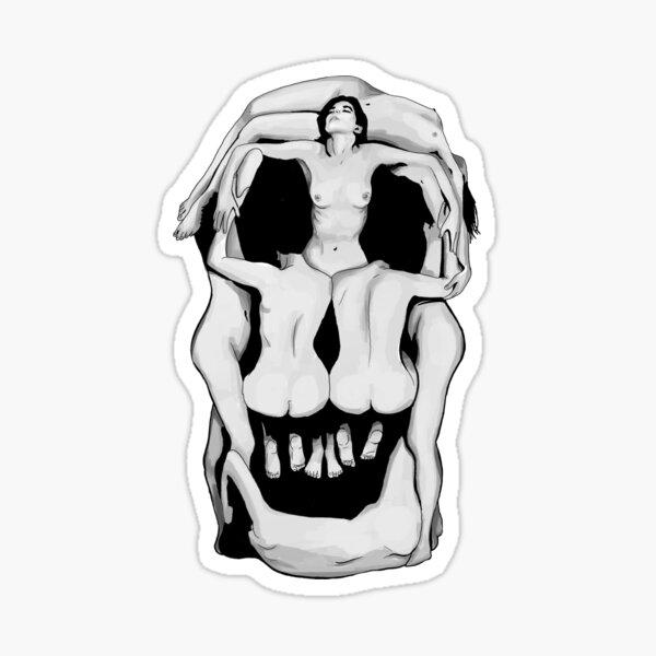 Salvador Dalí's Skulls - BLACK Sticker