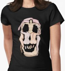 Salvador Dalí's Skulls Women's Fitted T-Shirt