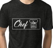 Chef (White) Tri-blend T-Shirt