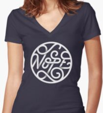 Nope - Typographic Art Women's Fitted V-Neck T-Shirt