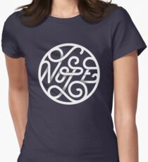 Nope - Typographic Art Women's Fitted T-Shirt