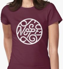 Nope - Typographic Art Womens Fitted T-Shirt
