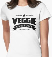 Veggie Rawsome Power Women's Fitted T-Shirt