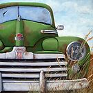 Old Rusty Ford oil painting by LindaAppleArt