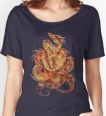 Red Curls  Women's Relaxed Fit T-Shirt