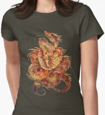 Red Curls  Women's Fitted T-Shirt