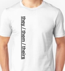 they them theirs - pronouns Unisex T-Shirt
