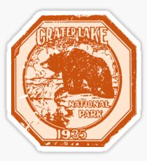 Crater Lake National Park decal 1935 Sticker