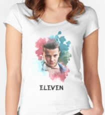 Eleven - Stranger Things - Canvas Women's Fitted Scoop T-Shirt