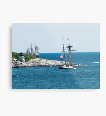 Around the Point and Out to Sea Metal Print