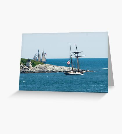 Around the Point and Out to Sea Greeting Card