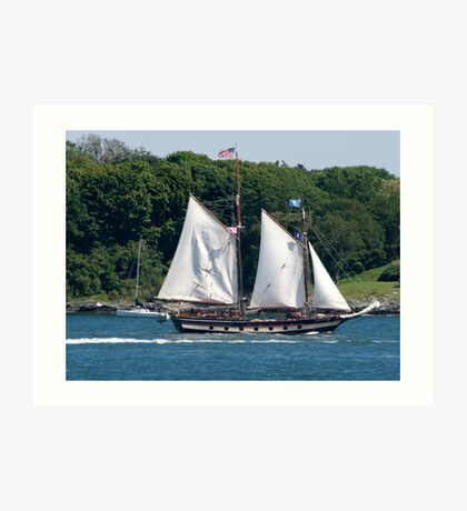 Tall Ship Sailing Past Newport, RI Art Print