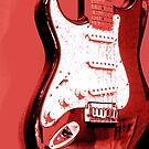 Red Guitar by Avalinart