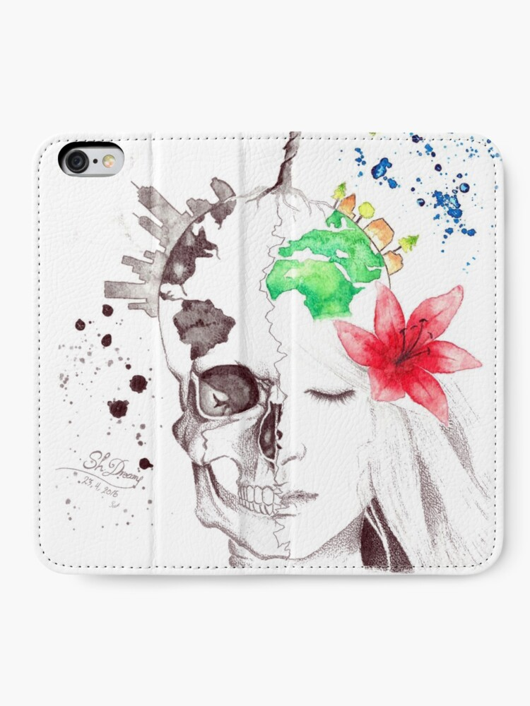 Alternate view of in love with earth iPhone Wallet