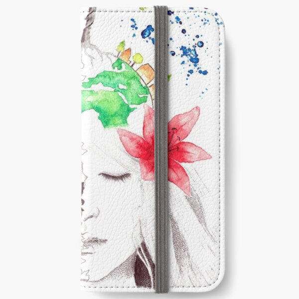 in love with earth iPhone Wallet