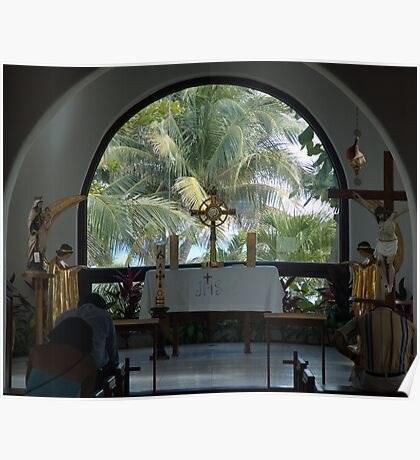 Altar amid Palms Poster