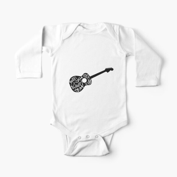 Sweet You Rock Dave Matthews Band Imagery Long Sleeve Baby One-Piece