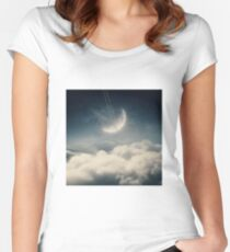 The swinging moon Women's Fitted Scoop T-Shirt