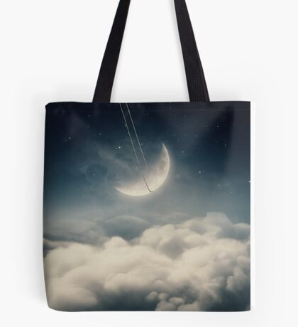 The swinging moon Tote Bag