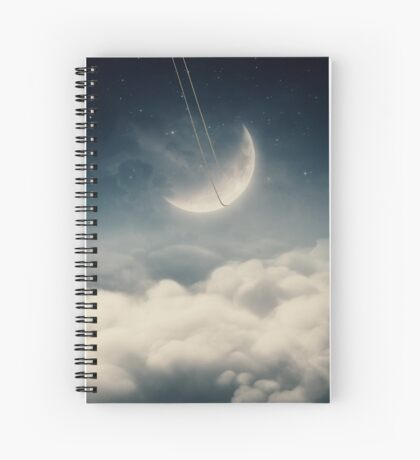 The swinging moon Spiral Notebook