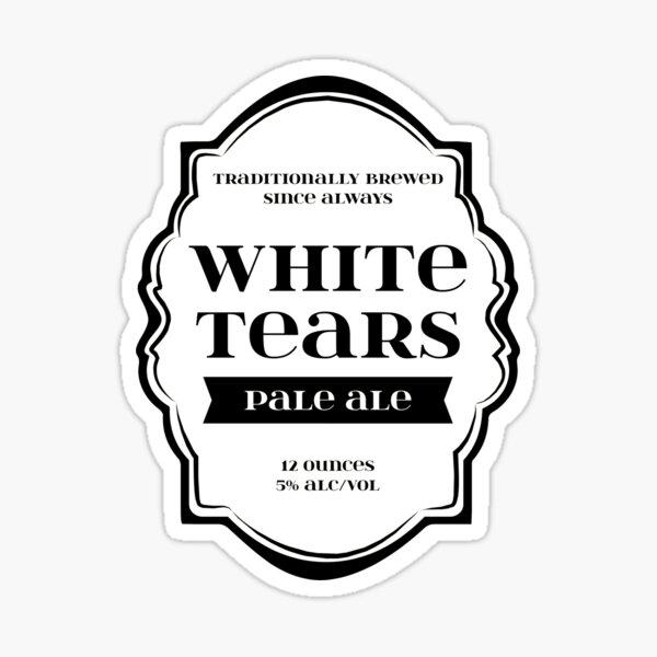 White Tears Pale Ale - Beer Bottle Label Design Sticker