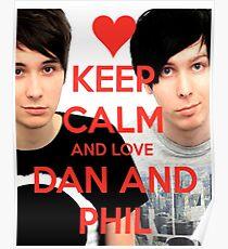 Bleib ruhig und LIEBE Dan und Phil Poster