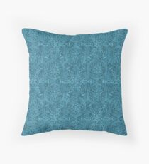 Moroccan Teal Textured Pattern Throw Pillow