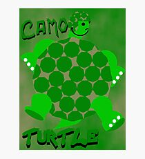 Camo Turtle Photographic Print