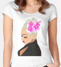 Xtina Illustrated Women's Fitted Scoop T-Shirt