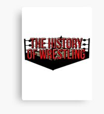 The History Of Wrestling Official T-Shirt Canvas Print