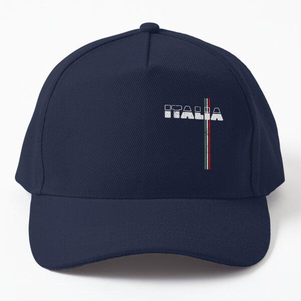 Italia Forza Azzurri Italy Flag Football Soccer Jersey Retro Baseball Cap