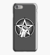 Raised Fist and Star iPhone Case/Skin