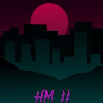 Hotline Miami 2 minimalist poster by Dinnershark