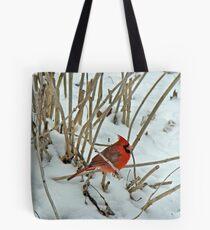 Northern Cardinal (Cardinalis cardinalis) Songbird Tote Bag