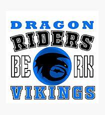 How to train you Dragon (Dragon Riders Black) Photographic Print
