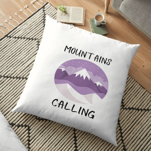 Mountains Calling (Mountizey) Floor Pillow